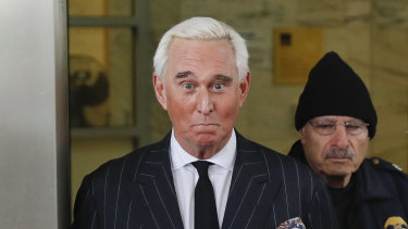 On trial: Republican trickster Roger Stone.