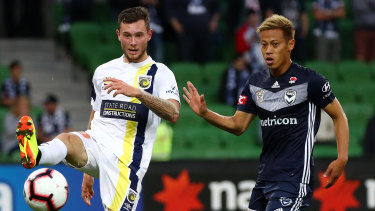 Roar deal: Aiden O'Neill (left) is set to play for Robbie Fowler's Brisbane Roar on loan next season.