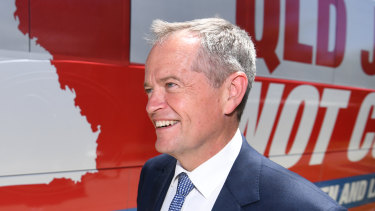 """Labor leader Bill Shorten says house prices are """"crashing"""" on the watch of Scott Morrison."""