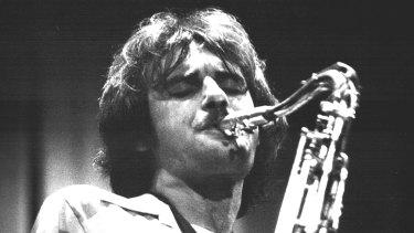 Saxophonist Mark Simmonds.