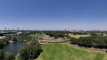 Moore Park in inner Sydney.