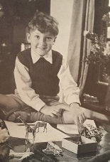 Andrew Jack, aged five, with some favourite toys.