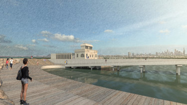 The proposed new pier.