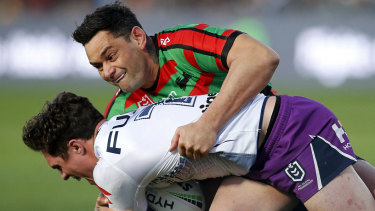 Souths favourite: John Sutton will finish his career as a member of the 300-plus-game club.