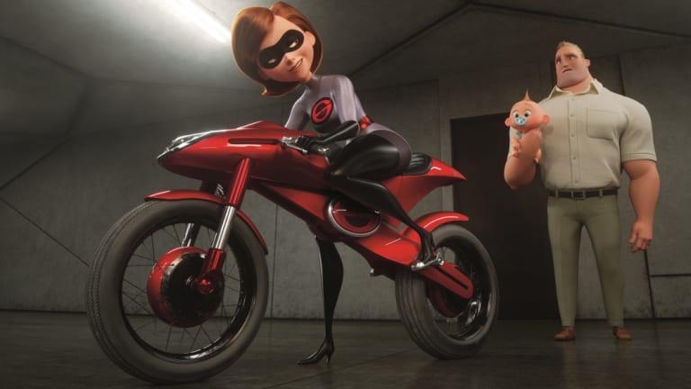 In Incredibles 2, Helen aka Elastigirl is called on to help bring Supers back.