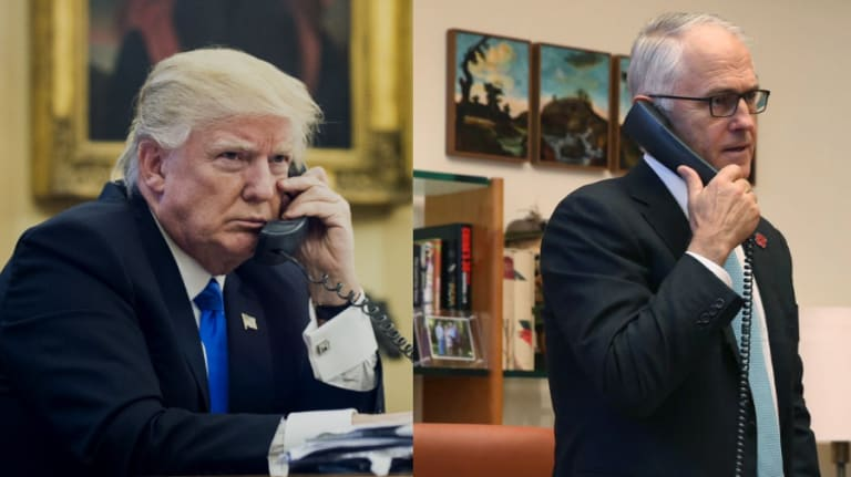 """Donald Trump and Malcolm Turnbull had a """"most unpleasant call"""" in January 2017, days after the President's inauguration."""