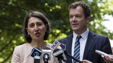 NSW Premier Gladys Berejiklian and Attorney General Mark Speakman.