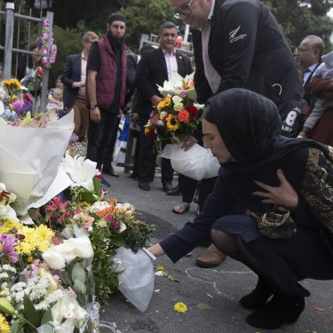 New Zealand Prime Minister Jacinda Ardern pays tribute to victims of the shooting.