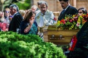 Mother Kim Dorsett says her final goodbye at Luke and Kate's funeral.