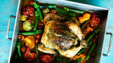 A roast chicken can supply a week of meals.