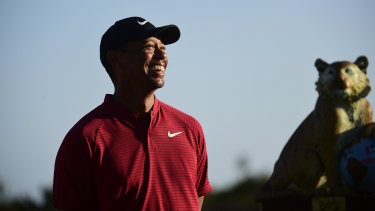 Busy: Tiger Woods has touched down in Australia hours after the finish of his Hero World Challenge tournament.
