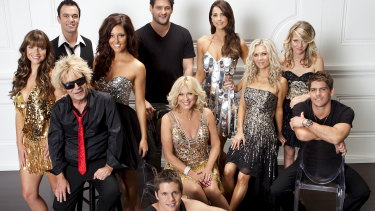 Noll (top left) with the cast of Dancing with the Stars in 2012.