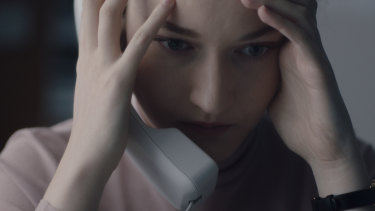 Julia Garner cops a serve from her bullying film producer boss in The Assistant.