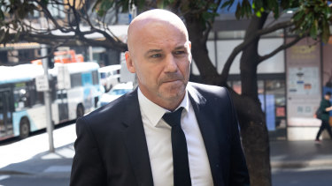 Gary Jubelin arrives at court in August.