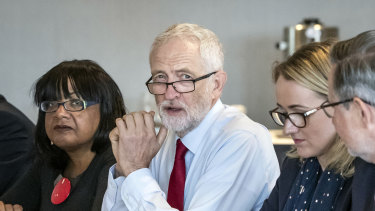 Jeremy Corbyn attends a shadow cabinet meeting at the Lowry Theatre in The Quays in Salford.