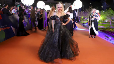 Kate Miller-Heidke strikes a pose at the opening of the 2019 Eurovision Song Contest.