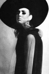 Maggi Eckardt modelling for Balenciaga in the 1960s.
