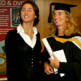 Katherine Keating supporting her mother Anita at UNSW with an MA in 2005. Katherine Keating has been in the news again lately.