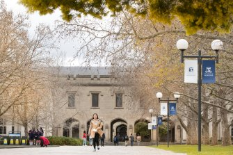 About 100 people have been evacuated from the University of Melbourne after a chemical spill.