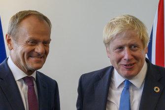 European Council president Donald Tusk received special correspondence from Boris Johnson.
