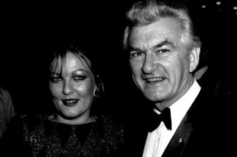 Rosslyn Dillon and Bob Hawke together in 1985.