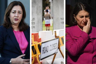 Queensland Premier Annastacia Palaszczuk says she will not hesitate to close the border to NSW if community transmission becomes more widespread.