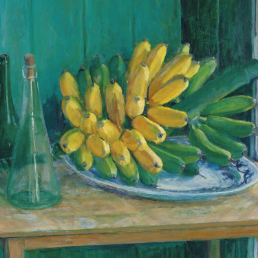 Bananas from the Garden, Farndon, 1974-5 by Margaret Olley.