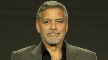 George Clooney at the Catch-22 panel during the Television Critics Association conference on Tuesday.