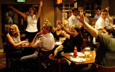 A pub trivia night.