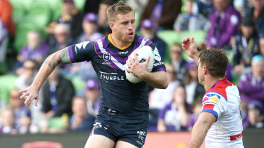 Melbourne Storm star Cameron Munster puts on a masterclass against the Newcastle Knights.