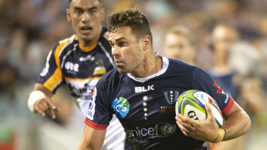 Tom English will lead the Rebels out against the Waratahs on Saturday night.