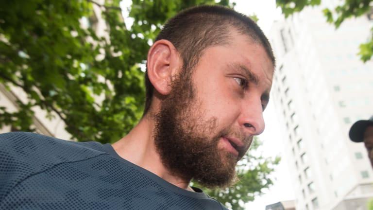 Ertunc Eriklioglu outside AFP offices.