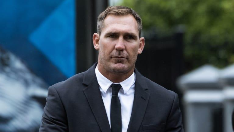 Scott Bolton enters Waverley Local Court on Monday morning.