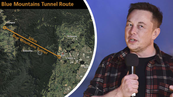 Public servants run numbers over Musk's 'bargain' Blue Mountains tunnel