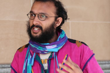 Greens councillor Jonathan Sri was handed the fine in January while on the way home from a protest on his bicycle.