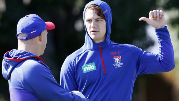 Ponga set for halves switch for Knights