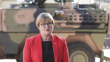 Defence Minister Linda Reynolds said the government wants to increase the share of local industry in the defence buildup.
