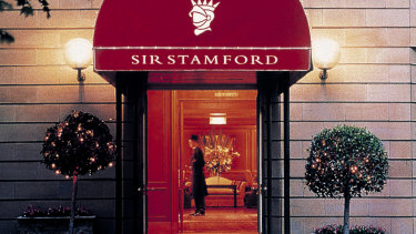 Sir Stamford at Circular Quay, which would turn into an apartment development under plans pursued by its owner, Singaporean tycoon CK Ow.