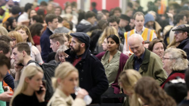 The scene at the closed-down Gatwick airport on Friday.