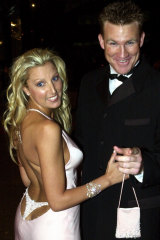 Tania's attention-grabbing brownlow gown in 2001.