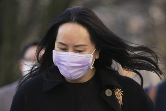 Meng Wanzhou, chief financial officer of Huawei, outside the BC Supreme Court on Wednesday.
