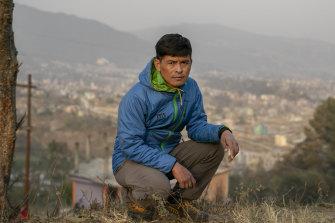 Pasang Rinzee Sherpa, 33,  in Kathmandu, Nepal, last week.