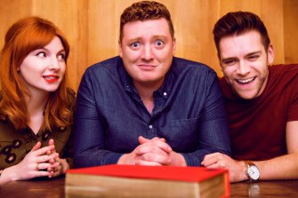 Alice Levine, Jamie Morton and James Cooper have brought their podcast to Australia for a series of live performances.