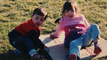 Bas, 20 months, and Malee, 4, in 2003. They were killed by their father.