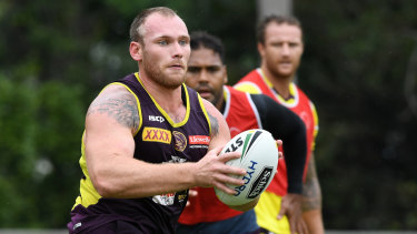 Staying put: Matt Lodge will remain with the Broncos until at least 2020.