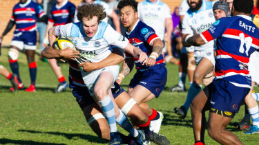 Queanbeyan winger Jamie Marmont in action against Easts on Saturday.