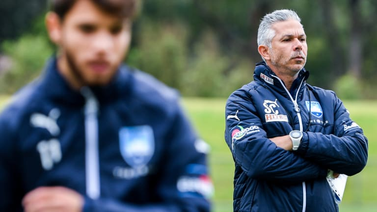 New gaffer, new style: Steve Corica oversees a Sydney FC training session.