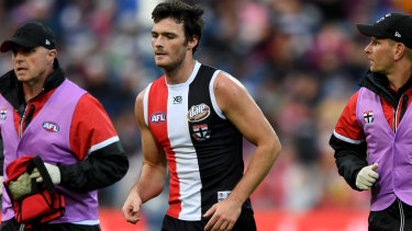 "St Kilda's Dylan Roberton felt ""wonky"" after the practice match."
