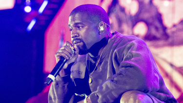 Kanye West performs at the Coachella Music & Arts Festival at the Empire Polo Club over the weekend.