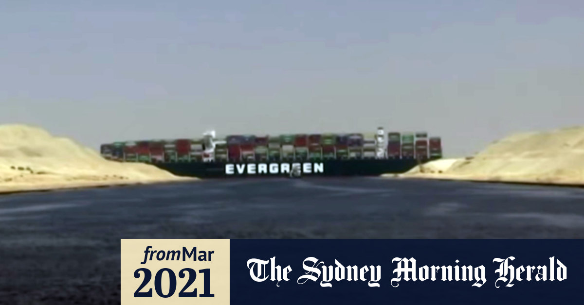 Evergreen ship stuck in Suez Canal imperils shipping worldwide